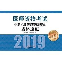 中医执业医师资格考试表格速记(2019)