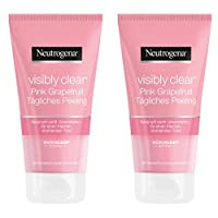 Neutrogena露得清 Visibly Clear 粉色西柚日常磨砂 /清新磨砂洗面奶,缓解肌肤粗糙和对抗脸部痘痘,带西柚香味 / 2 瓶150毫升