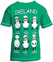 綠色愛爾蘭快樂綿羊兒童 T 恤