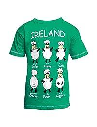 绿色爱尔兰快乐绵羊儿童 T 恤