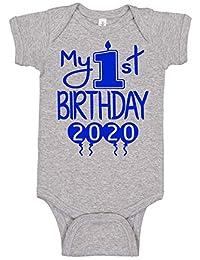 Reaxion Aiden's Corner 手工婴儿服装 - 男婴 My First Birthday 连体衣和衬衫