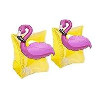 Sunnylife 儿童充气游泳圈,儿童臂带游泳池浮板 - 火烈鸟黄色
