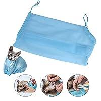 Ruiqas 猫*袋,小狗沐浴淋浴网眼涤纶清洁袋约束防刮擦袋用于*修剪狗护理*