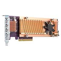 Qnap 双 M.2 22110/2280 SATA SSD 扩展卡(PCIe Gen2 X 2),半高支架预安装,低调平和全高捆绑 PCIe Gen3x4, M.2PCIeSSD X 4,PCIe Gen3 x8 host