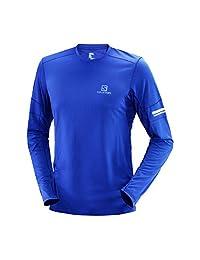 Salomon 萨洛蒙 男士 专业越野跑 长袖T恤 CN AGILE LS TEE M LC1020000 冲浪蓝 170/92