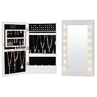 Fineboard 壁装式 LED 珠宝橱柜收纳器带镜子