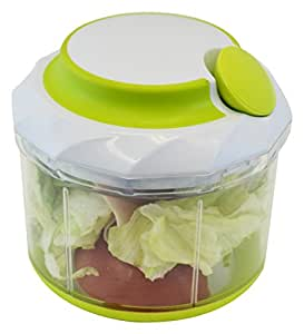 Southern Homewares Manual Handheld Food Chopper for Vegetable and Meat, Large, White