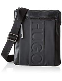 HUGO 男士 50403022 肩包,黑色(黑色),1x26x23 厘米