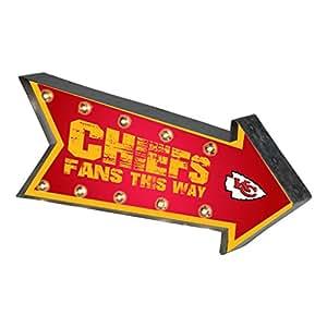 NFL 球队标志发光马眼墙标志 堪萨斯城酋长队