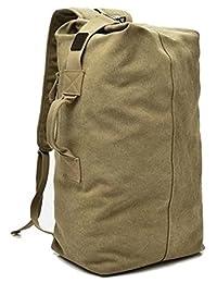 帆布背包大容量顶装行李袋户外运动健身包徒步野营旅行背包 男式