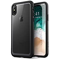 iPhone X 手机壳,[耐刮擦] i-Blason 透明[光晕系列] 适用于 Apple iPhone X Cover 2017 ReleaseiPhoneX-Halo-Clear/Black  透明/黑色