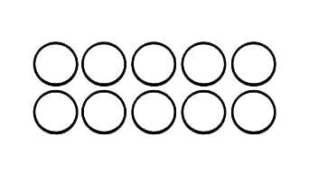 标准印章 ORBUNNSF70D130X10 130 70D NSF 认证 NBR O 型环,竹/金麻(10 件装)
