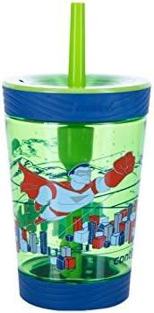 Contigo 儿童防漏玻璃杯奶瓶, granny Smith 超级英雄,4盎司 / 420ml
