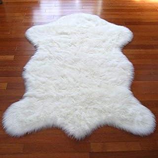 人造毛皮羊皮地毯雪白 Flokati Shag (5'x7') Pelt 形状自由形式