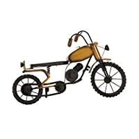 Deco 79 Metal Wood Motorcycle, 16 by 10-Inch