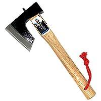 HACHIEMON 日本风斧 适用于野营或切碎木 350mm (13.8 英寸)