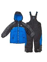 Arctic Quest 男婴滑雪夹克和雪地围兜防雪服套装