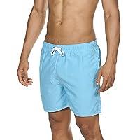 Arena男士游泳短裤基础纯色拳击手(速干,拉绳,软材料)