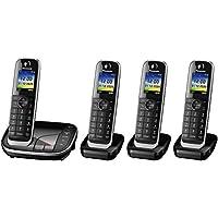 松下 KX-TGJ320EB 无绳家庭电话与Nuisance Call 阻塞器和 LCD 颜色显示 - 黑色KX-TGJ324EB Quad