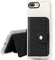 IronSeals AQ 折疊卡槽牛津貼紙手機殼錢包帶鋼扣適用于 iPhone/Samsung/Sony 和大多數手機 均碼 黑色