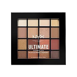NYX 专业彩妆 Ultimate眼影盘, 温暖中性色, 0.02 oz /0.83 g