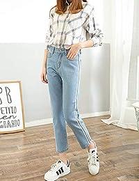 Goralon 搭配新款牛仔裤女韩版休闲裤女装长裤学生高腰显瘦休闲长裤子