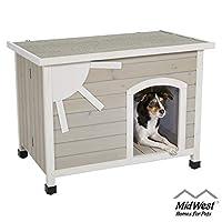 Eillo 折叠户外木制狗狗房屋,无需工具组装 狗狗房子适合小型犬种