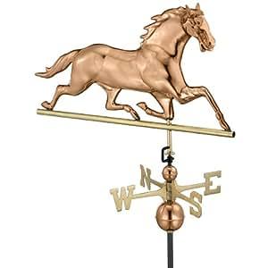 Design Toscano Galloping 马全尺寸铜风向标车 GD1580