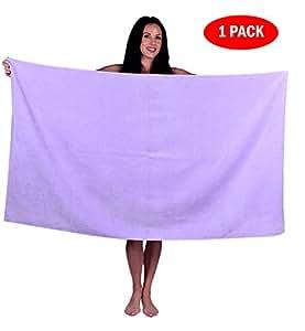 Turquoise 织物超大码绒布浴巾,海滩,泳池,浴巾,100% 土耳其天然软棉,土耳其制造 紫色(Lavender) 1 Towel