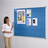 VIZ-PRO 蓝色绒布板 展示板 图钉板 留言板 布告栏 告示板 120*90cm