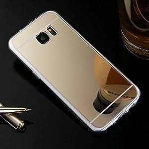 Galaxy S7 手机壳,HAOTP(TM) 美丽奢华钻石混合闪光闪光闪光柔光闪耀带后盖三星 Galaxy S7 手机壳 Samsung Galaxy S6 金色