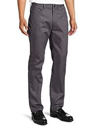 Lee Uniforms 男式修身直筒 5 袋裤