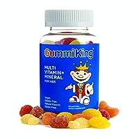 Gummi King 多种维生素和矿物质补充剂,草莓/柠檬/橙子/葡萄/樱桃/葡萄柚,60粒