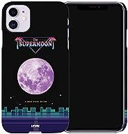 UTHPIK 簡約超薄設計手機殼 [復古*月亮] 專為 iPhone11 Pro 設計。 5.8 英寸(約 14.0 厘米)。 硬殼 5.8inch Purple Moon City(iphone11Pro)