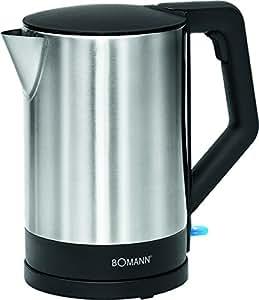 Bomann WKS 3002 CB 烧水壶,1.5升,白色/不锈钢 黑色/不锈钢 WKS 3002 CB