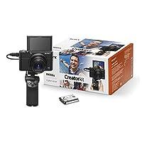Sony 索尼 DSC-RX100 III 数码相机(20.1 万像素 Exmor R 传感器,3 倍可选。 变焦,7.6厘米(3英寸)显示屏,全高清,WiFi/NFC)黑色DSCRX100M3G.CE3 Digitalkamera + Vlogger-Griff 黑色