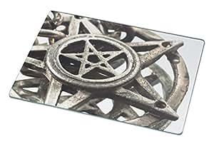 Rikki Knight Pentagram with Reflection Macro Shot Large Glass Cutting Board