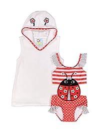 Baby Buns 女童 Terry 罩衫游泳套装