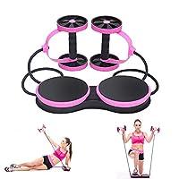 Outamateur 新款 Ab 滚轮训练器材带护膝和俯卧撑跳绳适用于家庭健身房健身腹部锻炼肌肉力量锻炼