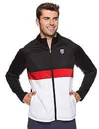K-Swiss 男士 1/4 拉链套头运动夹克 - 长袖跑步和保暖上衣