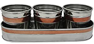 Behrens SS3N1 3PK Stainless Steel Planter/Tray 1