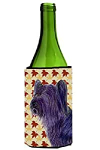 Skye Terrier Fall Leaves Portrait Michelob Ultra Koozies for slim cans SS4393MUK 多色 750 ml