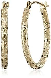 10k 黄金环状耳环,0.75英寸