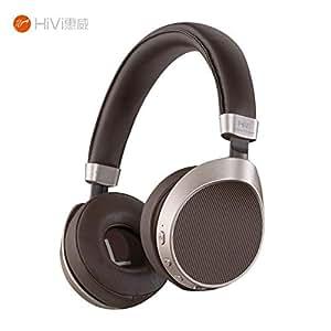 HIVI 惠威 AW-63 无线蓝牙耳机 手机电脑耳麦 头戴式 摩卡啡(亚马逊自营商品, 由供应商配送)