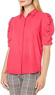 Calvin Klein 女士纽扣泡泡袖衬衫