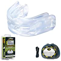 Brain-Pad LoPro+ Double Laminated Strap/Strapless Combo in one Mouthguard 透明 ADULT