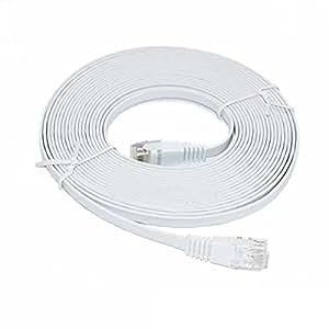 C&E 1 英尺优质* CAT6 550 MHz 扁平接插线,白色 (CNE52749) CNE681474 45 Feet (2 Pack)
