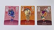 amiibo 動物交叉卡片 3張裝 日本進口任天堂 Switch- Switch Lite- -Wii U-3DS