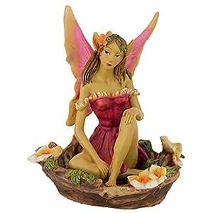 Design Toscano Fairy of Acorn Hollow Statue Green 五彩