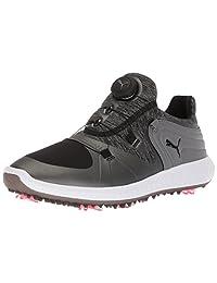 PUMA 女士 Ignite Blaze Sport Disc 高尔夫球鞋 黑色/钢灰色 7.5 M US
